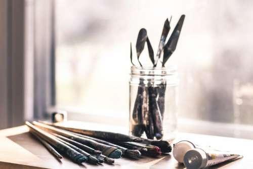Artist Studio Paint Brush Free Photo