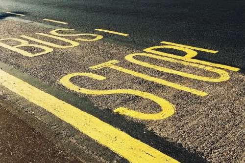 Bus Stop Signage Free Photo