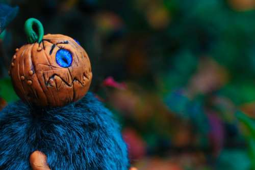 Pumpkin Figure Halloween Free Photo