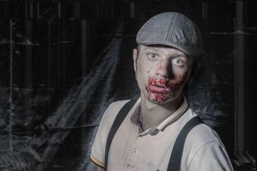 Zombie Costume Man Halloween Free Photo