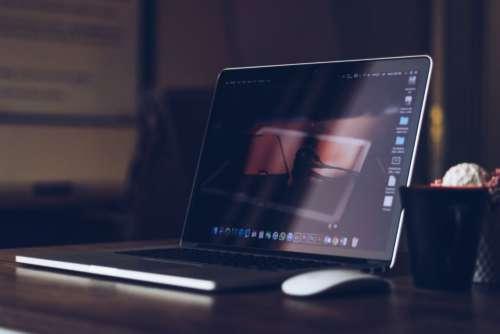 Macbook Desk Office Work Free Photo