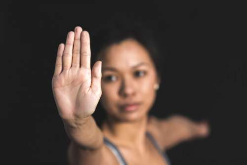 Hand Stretch Woman Free Photo