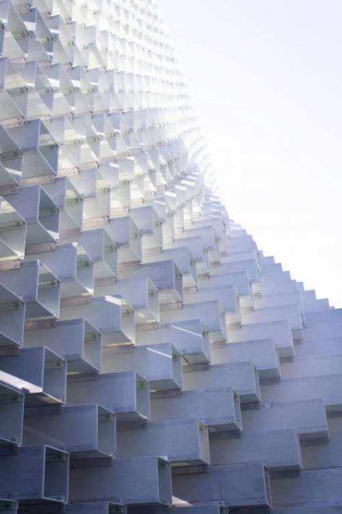 Stacked Cube Structure Free Photo