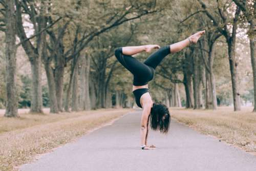 Woman Forest Yoga Pose Free Photo