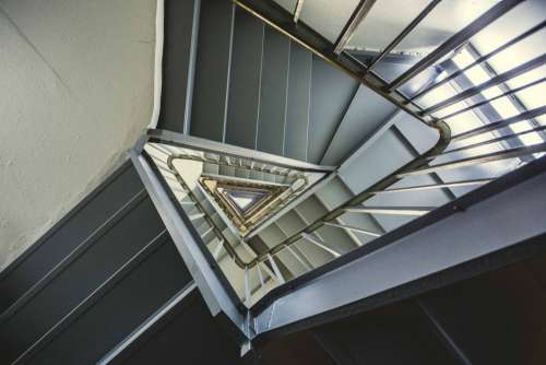 Triangle Spiral Staircase Free Photo