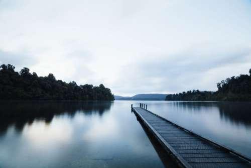 Lake Dock Free Photo