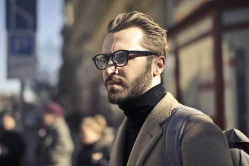 Beard Glasses Model Man Free Photo