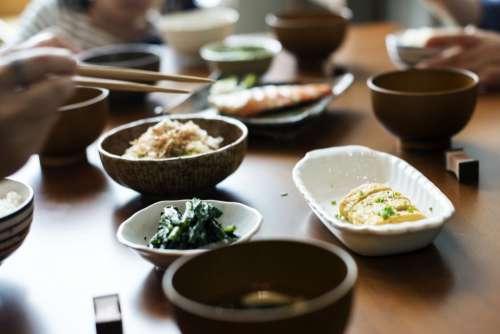 Chopsticks Sushi Wood Table Free Photo