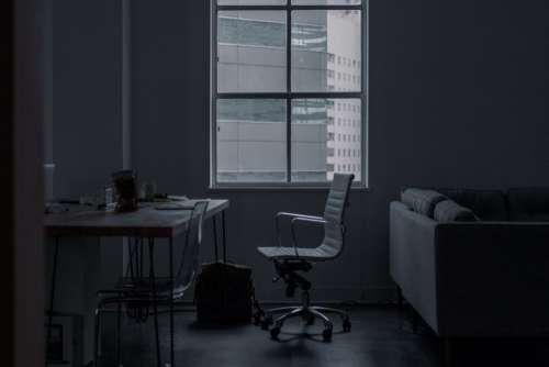 Office Minimal Setup Desk Chair Free Photo