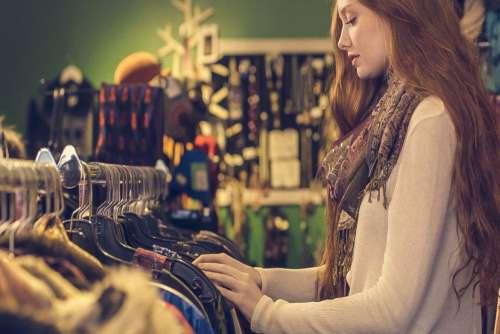 Woman Shopping Clothes Free Photo