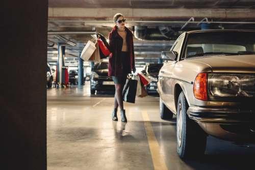Woman Shopping Model Free Photo