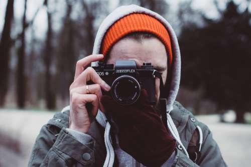 Man Photographer Analog Camera Free Photo