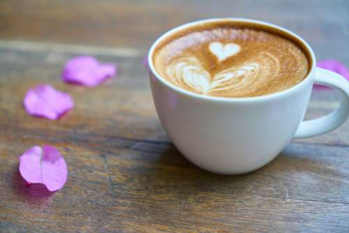 Cappuccino Coffee Love Heart Free Photo