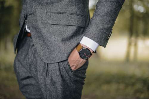 Suit Watch Man Model Free Photo