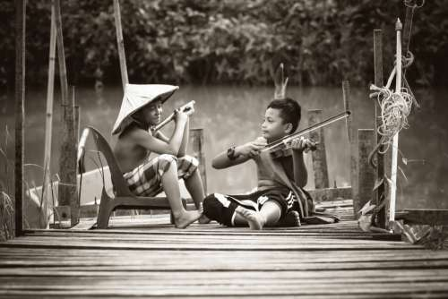 Children Violin Flute Free Photo