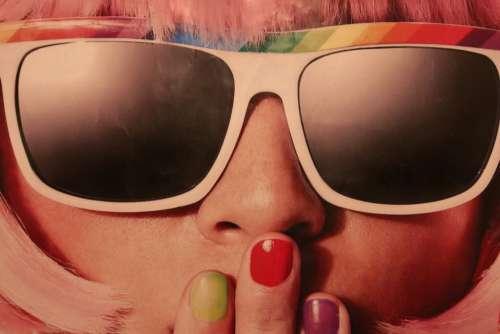 Girl Woman Sunglasses Retro Free Photo
