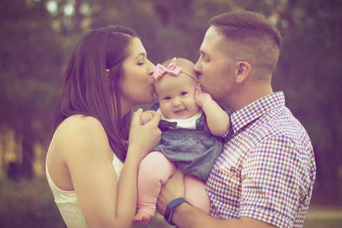 Family Baby Man Woman Child Free Photo