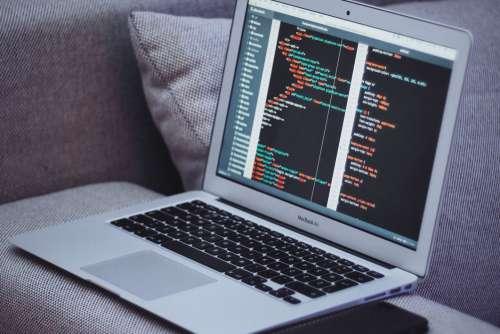 MacBook Code Free Photo