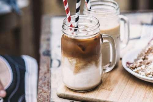Rustic Wood Coffee Milk Free Photo
