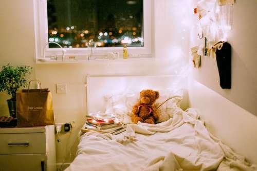 Bedroom Teddy Bokeh Free Photo