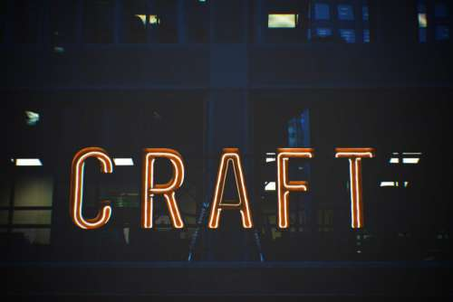 Craft Neon Sign Free Photo