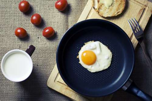 Breakfast Eggs Bread Free Photo