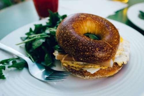 Breakfast Bagel Eggs Free Photo