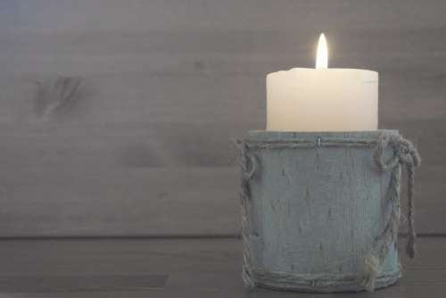 Candle Flame Wood Rustic Free Photo
