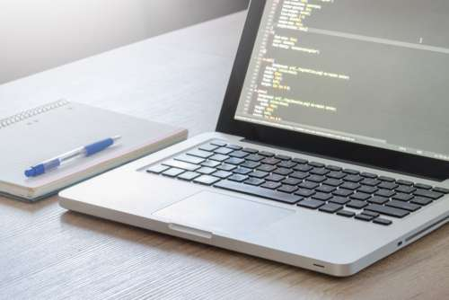 MacBook CSS Code Web Design Desk Free Photo