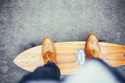 Wood Shoes Foot Skateboard Free Photo