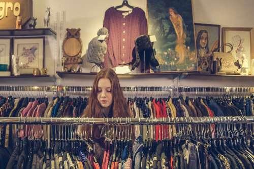 Woman Shop Clothes Apparel Free Photo