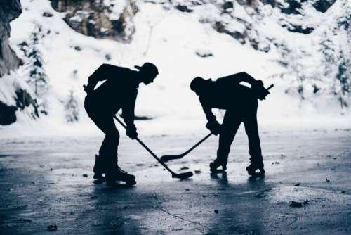 Man Ice Hockey Free Photo