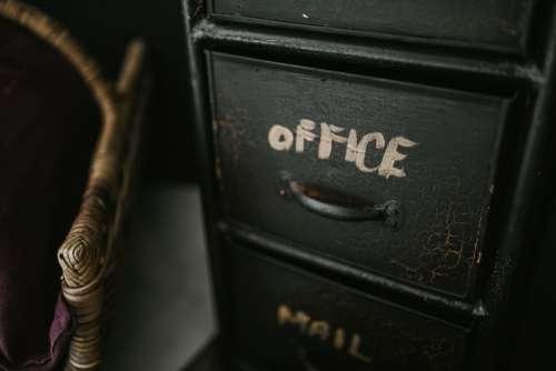 Black Office Desk Vintage Free Photo