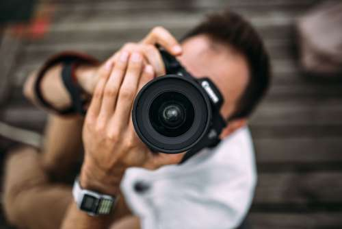 Man Photography DSLR Camera Free Photo