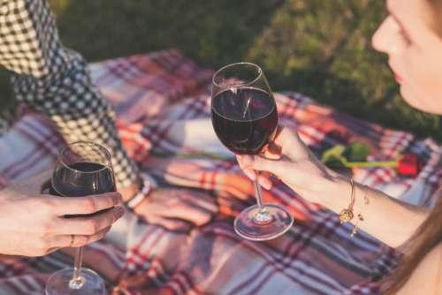 Picnic Blanket Man Woman Wine Free Photo