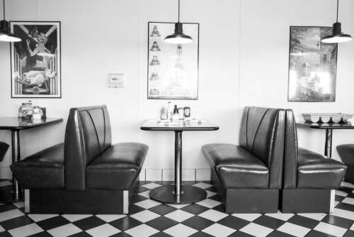 Old School Diner Booth Free Photo