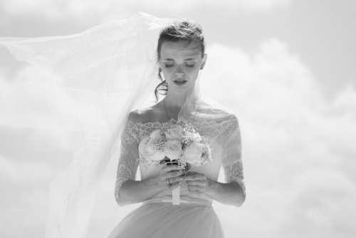 Bride Wedding Flowers Free Photo
