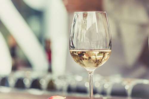 Glass White Wine Free Photo