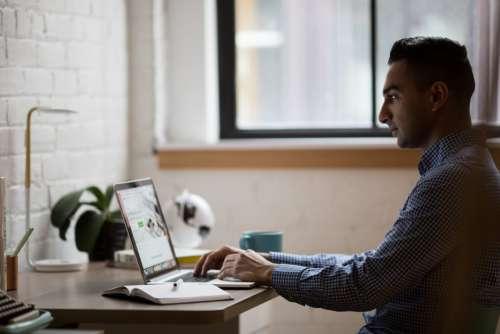 Laptop Desk Minimal Free Photo