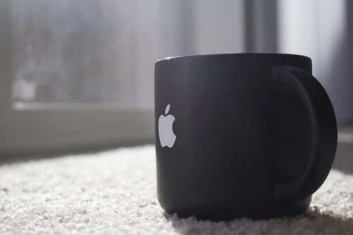 Black Mug Apple Free Photo