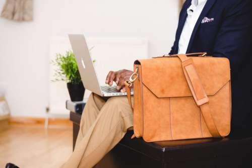 Business Man MacBook Satchel Free Photo