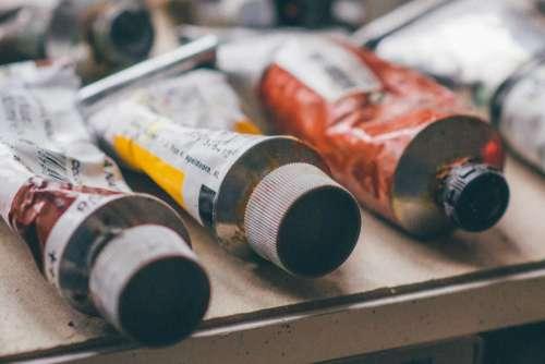Art Color Paint Tubes Free Photo