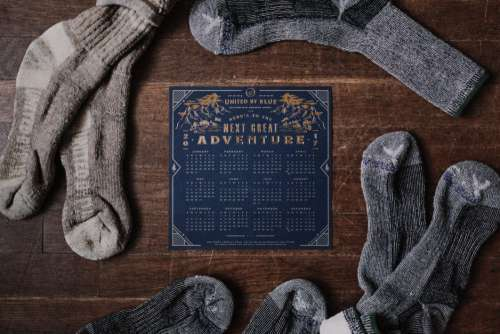 Adventure Calendar Socks Wood Desk Free Photo