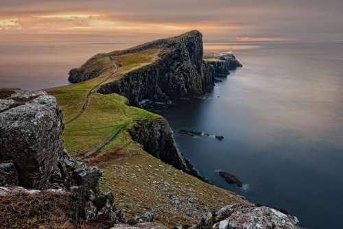 Sea Cliffs Mountains Scotland Free Photo