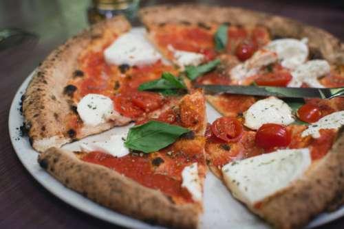 Pizza Margherita Cheese Tomato Free Photo