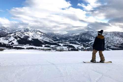 Snowboard Man Snow Mountain Free Photo