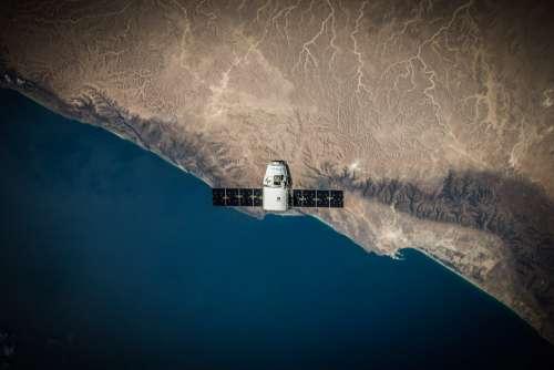 Satellite Earth Orbiting Free Photo