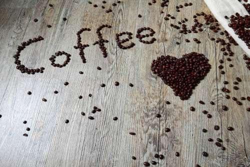 Love Coffee Beans Wood Free Photo