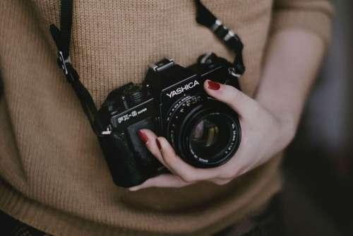 Yashica Camera Woman Free Photo
