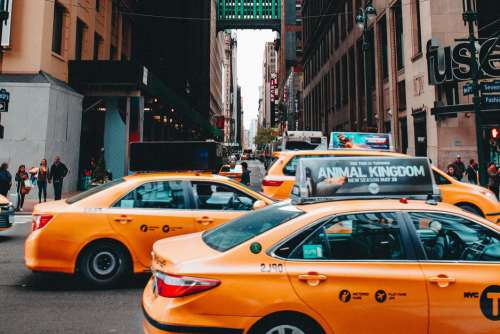 Yellow Taxi Cab New York Free Photo